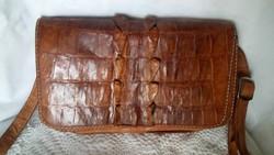 Régi krokodilbőr női táska