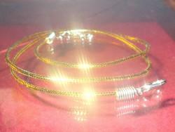 Aranyló fényű pamut uniszex Nyaklánc