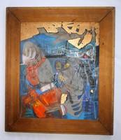 Kondor Béla - A pilóta álma című festménye