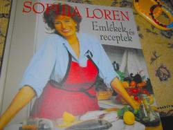 Sophia Loren szakácskönyve Emlékek és receptek (eredeti ár 6500 Ft)