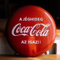 Coca-Cola zománcozott domború reklámtábla