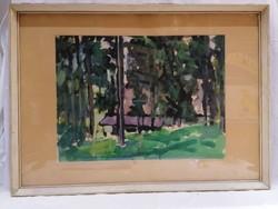 Novotny Emil Róbert akvarell festmény