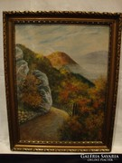 Út a hegyen jelzett festmény