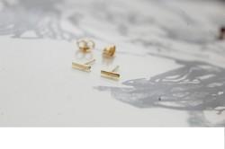14 karátos arany fülbevaló