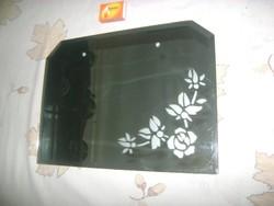 Retro falitükör, fürdőszobai tükör - virágos