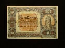 1000 KORONA - KÜLÖNLEGESEN SZÉP - 1920 (nagyméretű)