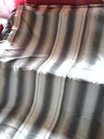 Szürke csíkos 100 % pamut ágynemű garnitúra