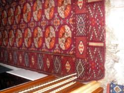 Antik régi bakhara kézi futó,szép akciós szőnyeg 237x138cm Kisebb sérülés miattt/