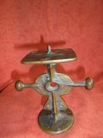 Muharos Lajos bronz gyertyatartó