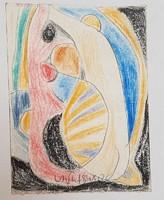 Németh Miklós - 11 x 8 cm ceruza, papír