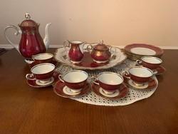 Reichenbach fine China made in GDR porcelán kávés és süteményes készlet