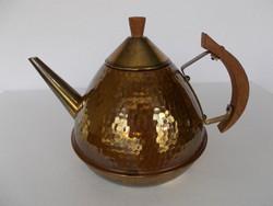 Szép régi Art deco réz teáskanna, kiöntő