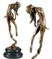 Érdekes bronz szobor alkotás - Örvény táncos