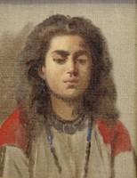 BÖHM PÁL /1839 - 1905/:Fiatal lány