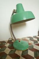 Retró gégecső nyakú olvasólámpa lámpa asztali lámpa fém lámpa türkizzöld színben
