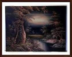 Irene Cafieri  festőművész alkotása ( olaj, 30,5 x 40.5 )