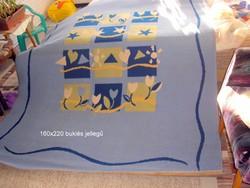 Kék gépi perzsa szőnyeg,160x220 cm.-es