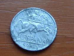 SPANYOL 10 CENTIMOS 1953 ALU. #