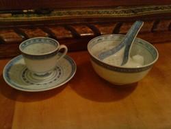 Kávés készlet , cukortartóval