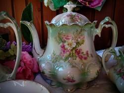 Antik porcelán teáskészlet Mz