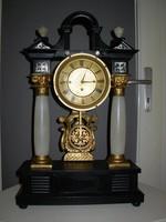 Nagyméretű negyedütős biedermeier asztali óra kedvező áron!