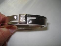Ezüstözött mágneses karkötő  18 cm-es csuklóra