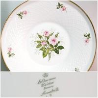 """""""Seltmann Weiden Bavaria Annabell"""" rózsamintás német porcelán tányér (857)"""