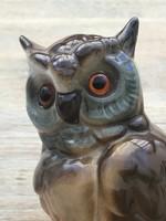 Antik porcelán bagoly lámpa