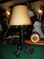 Antik kovácsoltvas asztali lámpa tökéletesen működő állapotban 55 cm magas