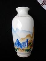 Retró GDR festett nagy váza