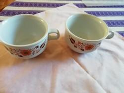 Retró Alföldi porcelán vastag falú teás csésze