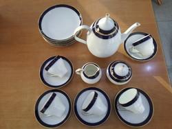 Csodaszép art deco Hutschenreuther Poesie 3 kávéskészlet 5 csészével és 6 kistányérral, hibátlan,