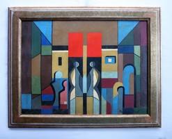 Barcsay Jenő Terv a szentendrei mozaikhoz című festménye