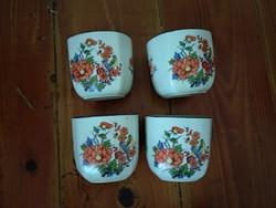 Keleti teás kávés csészék, 4 db,  kínai vagy japán porcelán szett részei