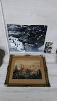 3 db képen Eger, a volt zsinagóga épületével