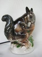 Porcelán mókus lámpa