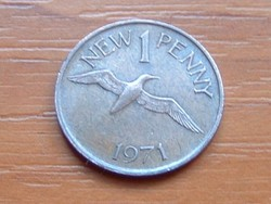 GUERNSEY 1 NEW PENNY 1971 GANNET (MORUS) MADÁR #