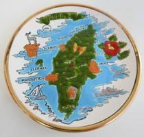 Fali emléktányér Rodosz - rodoszi emlék Dakas Ceramic - kézzel készített