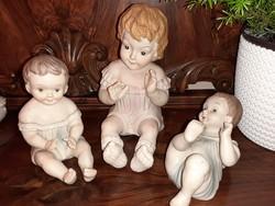 Meseszép  gyermek porcelan  szobrok