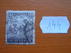 "4-1/2 (4,50) KORONA ARATÓ 1920 -1924 ""MAGYAR KIR.POSTA"" 144#"
