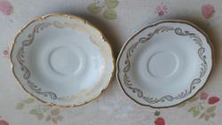 Cseh porcelán csésze alátét kistányér 2 db eladó!
