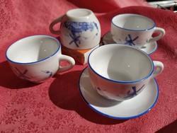 Parányi porcelán készlet, babaházi kellékek 6 db.