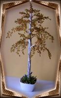 Gyöngyből készített őszi nyírfa GYV02-2-38