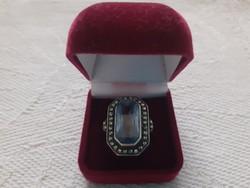 Régi  ezüst gyűrű (talán topáz kővel)