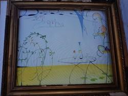 Festmény, vászon, olaj, 60cmx50cm-es vakrámára/feszítőkeretre való, szignós