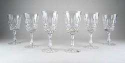 0Y008 Jelzett parádi kristály talpas pohár készlet