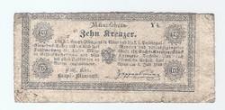 10 Krajcár, Kreuzer 1849