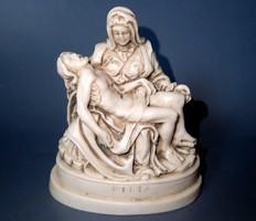 Régi Pieta mini szobor figura Mária Jézus Keresztény vallás Kereszténység