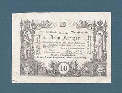 10 Krajcár, Kreuzer 1860 EF Ingyen posta