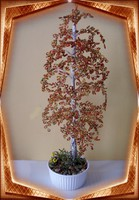 Gyöngyből készített őszi nyírfa GYV02-3-42
